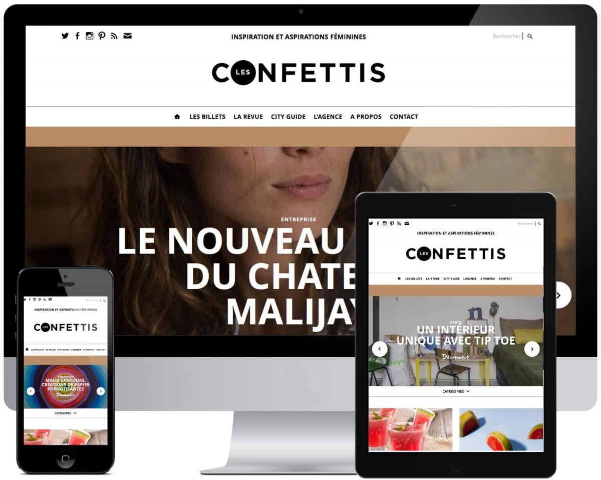 site internet les confettis