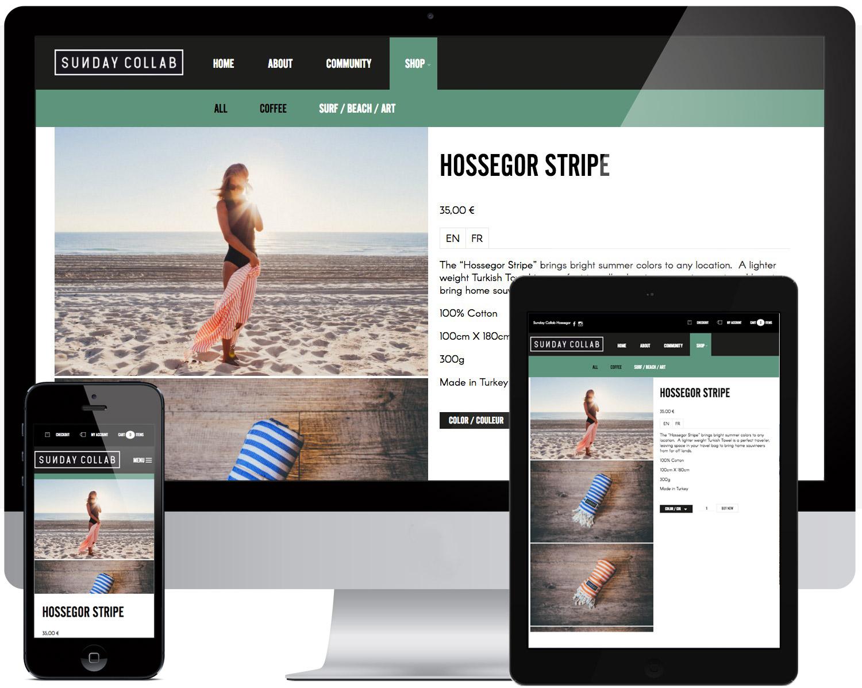 site internet ecommerce landes et pays basque