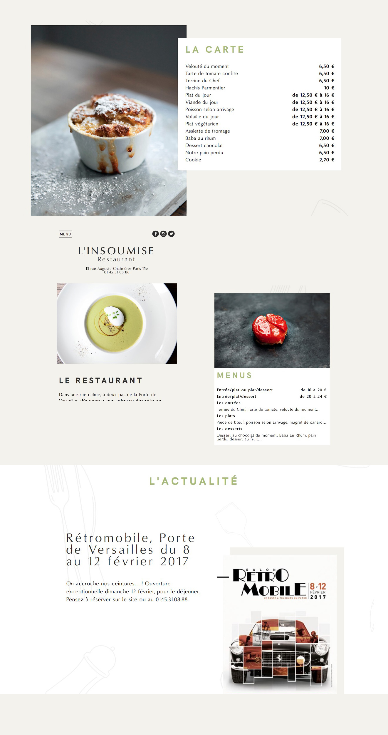 design site internet restaurant
