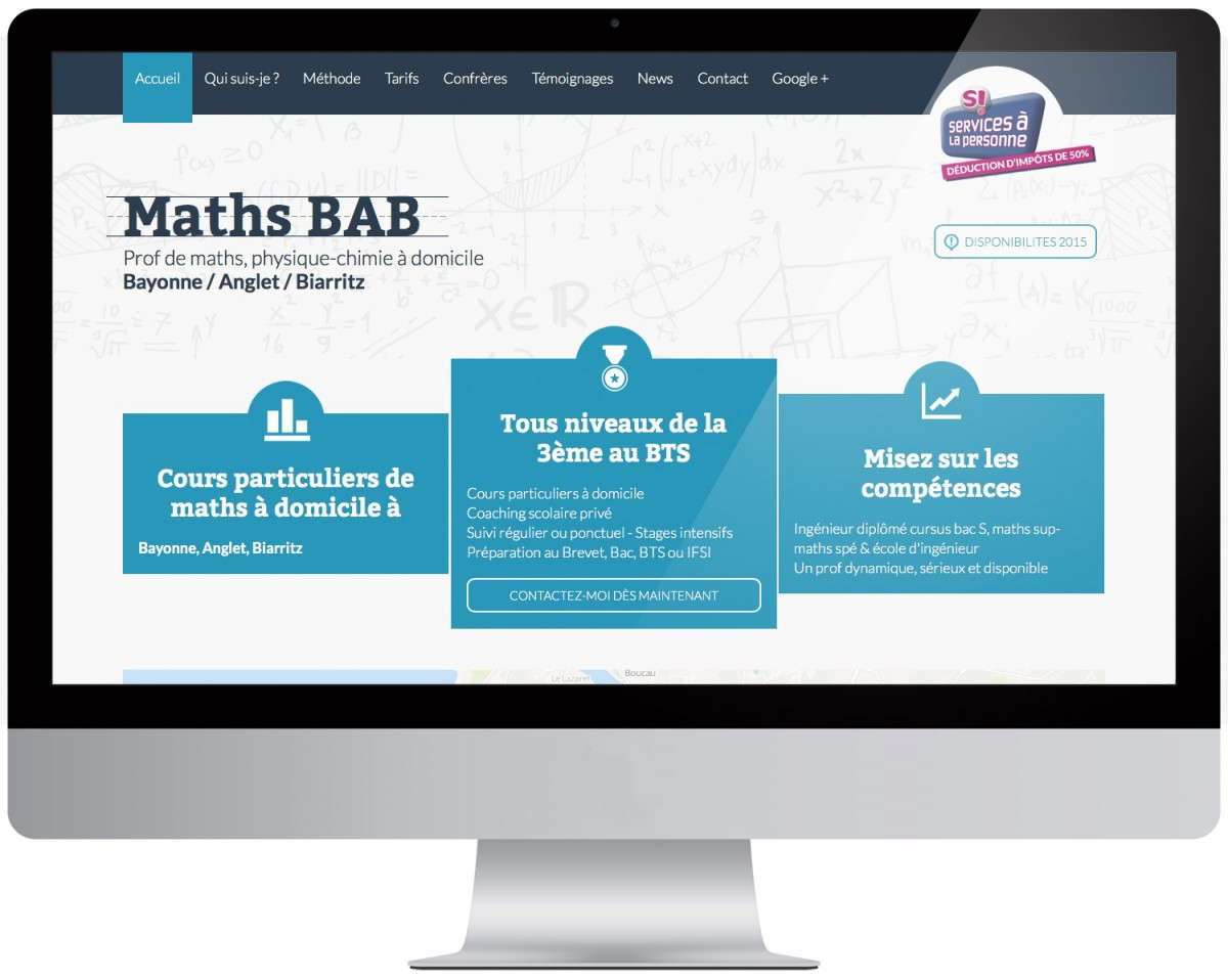 Maths BAB site vitrine bayonne