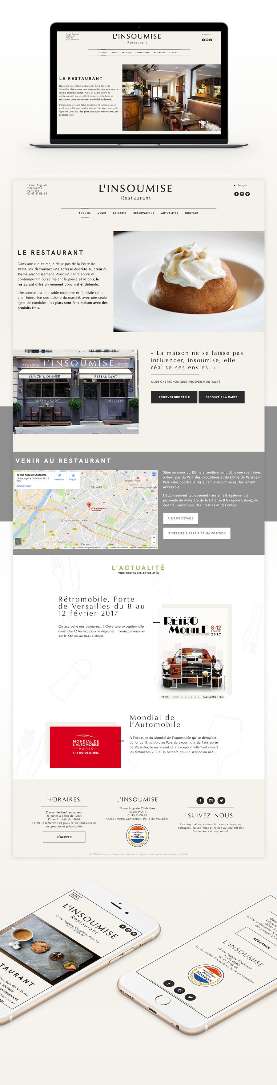 design site restaurant l'insoumise