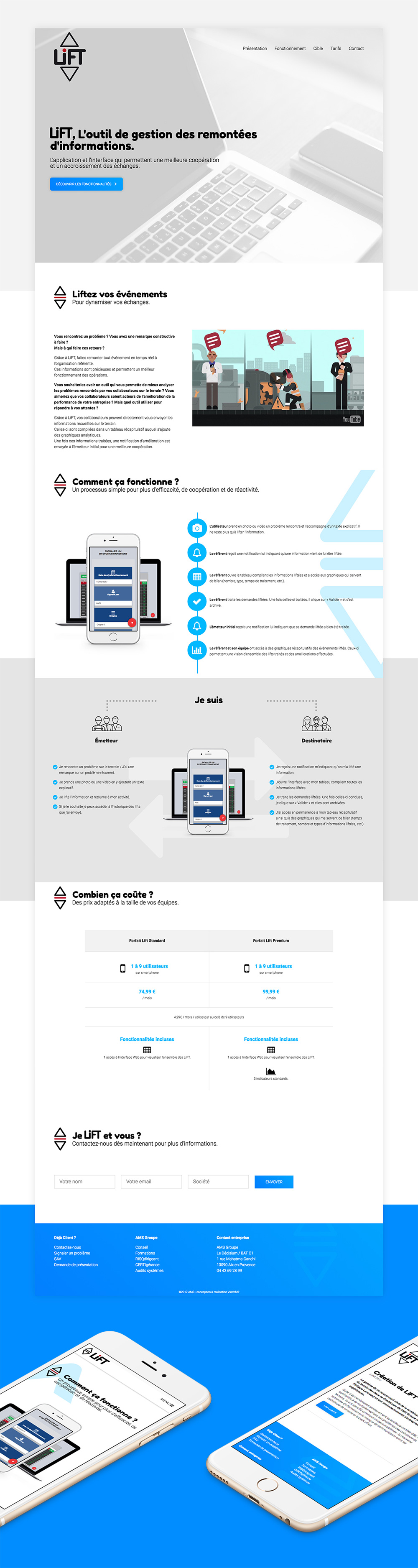 lift app website design